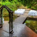 Wedding reception Setup at the Pond